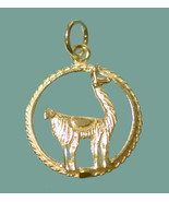 NICE New Llama 24K Gold Plated Sterling Silver Jewelry charm Labyrinth c... - $19.81