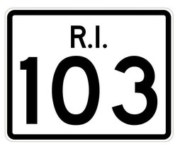 Rhode Island State Road 103 Sticker R4239 Highway Sign Road Sign Decal - $1.45+