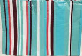 "THIN FLANNEL BACK Vinyl Tablecloth 52"" x 70"" Oblong, MULTICOLOR STRIPES ... - $8.90"