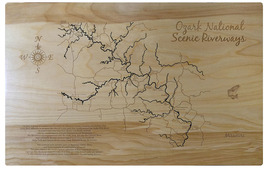 Ozark National Scenic Riverways, Missouri - Wood Laser Cut Map - Wall Ha... - $124.99+