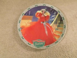 """Vintage Enesco 1988 Happy Holidays Barbie 8"""" Collectors Plate--FREE SHIPPING! - $19.79"""