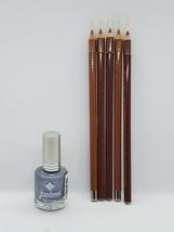 Makeup Lip And Nail Kit Jordana Lip Liner 5 Full Sticks, 1 Lg Bottle Of Polish - $11.30