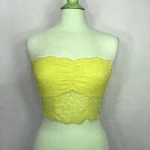 American Eagle Outfitters Aerie Romantic Lace Bandeau Bra Size M Neon Ye... - $12.99