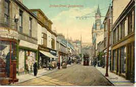 Bridge Street Dunfermline Scotland vintage Post Card - $7.00