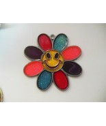 Vintage Sun C. Gallery 1998 Smiley Face Colorful Sun Catcher  - $12.86