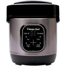 Magic Chef 3-cup Stainless Steel Rice Cooker MCPMCSRC03ST - $45.41