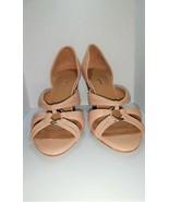 Joy Chen Memory Foam Comfort Unique Designer Heels Cream & Nude SZ 9.5 New - $15.99