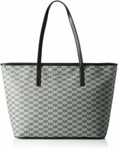 NWT MICHAEL KORS Emry Canvas Monogram Extra Large Tote Black Grey 30F6AE... - $136.51
