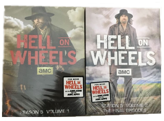 Hell on Wheels The Complete Fifth Season 5 DVD Box Set 4 Disc Free Shipping