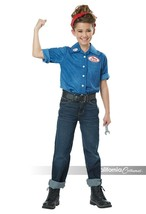 Californie Déguisement Rosie The Riveter WW2 Filles Enfant Halloween 00594 - $19.98+