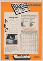 Original Vintage Ad (1957): Barron Plastics, Cincinnati, Ohio. - $75.00