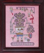 Friendly Flower Bot cross stitch chart Ink Circles  - $9.00