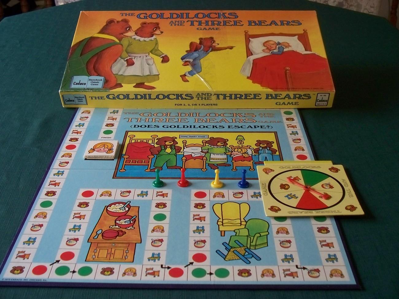 Goldilocks And The Three Bears Game Cadaco 1989 Complete image 2