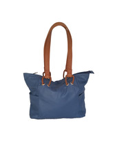 Blue Leather Shoulder Bag, Retro Leather Purse, Woman Handbag, Kenia - $103.49
