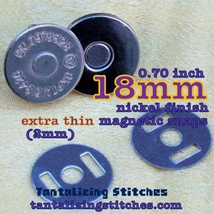 600 Silver 18 mm EXTRA THIN Magnetic Snap Closures - $211.52