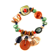 Treska Colorful Boho 5-Strand Wood/Shell Playa Beaded Stretch Bracelet-40% OFF! image 4