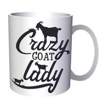 Crazy Goat Lady 11oz Mug t532 - $14.48 CAD