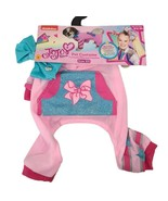 Rubie's JoJo Siwa X-Small  or Cat Pajama Pink Hooded Pet Jumpsuit w/ Blu... - $9.32