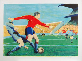 "Boyle ""Soccer Game"" - S/N Serigraph - Retail $2... - $80.00"