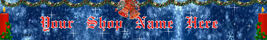 Web Banner Blue and Red Custom Christmas   45a - $7.00