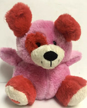 "Animal Adventure Pink Red Puppy Dog Soft Plush Heart on foot 2019 8"" Valentines - $9.99"