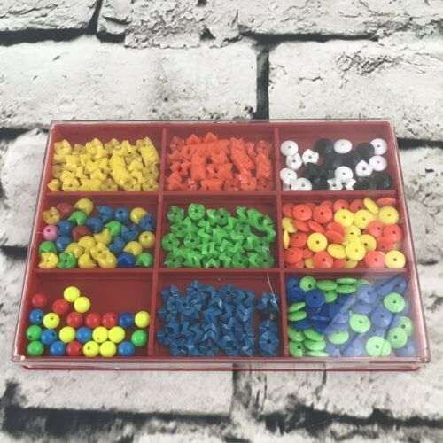 Vtg Kids Plastic Bead Set Crafts From Germany