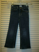 Childrens Place Girls Bootcut Stretch Jeans Sz 4 Adjustable Waist Hearts - $9.99