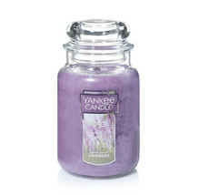 Yankee Candle Relaxing Soothing Lavender 22 oz NEW Purple Free Ship - $39.95