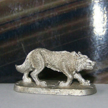 Rare Vintage Dungeons & Dragons Metal Miniature D&D Ral Partha Wolf On Prowl Dog - $17.99