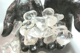 4oz Crackle Quartz Gemstone Tumbled Stones 10-15mm Reiki Healing Crystal... - $6.99