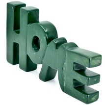 Vaneal Group Hand Carved Soapstone Green HOME Standing Word Paperweight image 2