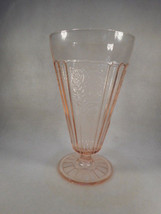 Vintage Anchor Hocking Pink Depression Glass Mayfair Open Rose Footed Pa... - $32.62