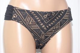 NEW Becca Rebecca Black Crochet La Boheme Ruched Tab Side Hipster Bikini... - $14.80