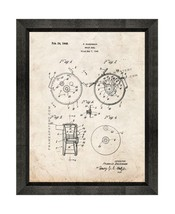 Trout Reel Patent Print Old Look with Beveled Wood Frame - $24.95+