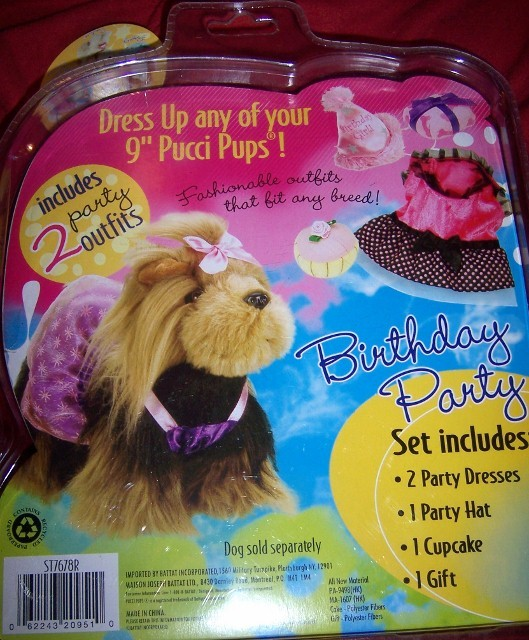 Pucci Pups Two Outfits Birthday Party NEW