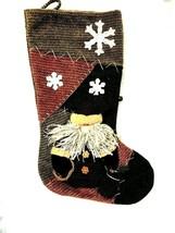 Santa Claus Stocking Holiday Door Mantle Christmas Stocking Brown - $9.85