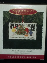 Hallmark Ornament U.S Christmas Stamps 2nd 1994 Series Second Postage  Tree Snow - $25.15