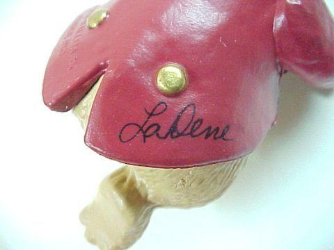 1991 Hallmark Fiddlin Around Bear Ornament Signed LaDene