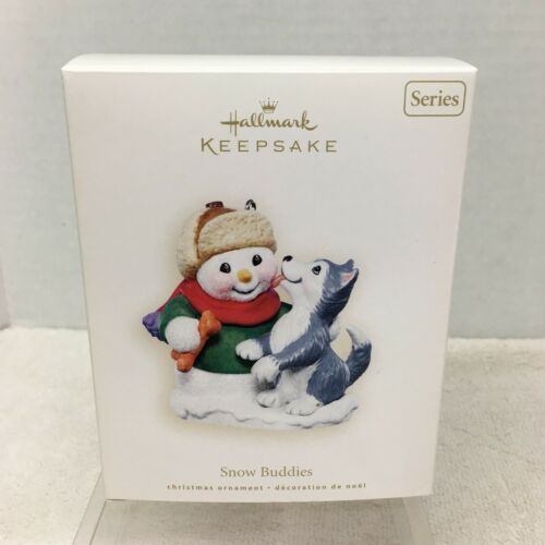 Primary image for 2007 Hallmark Husky Puppy Snow Buddies Christmas Tree Ornament MIB Price Tag H2