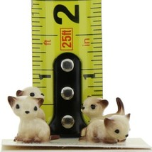 Hagen Renaker Miniature Cat Siamese Tiny Kittens Boxing Walking Sitting & Lying image 2