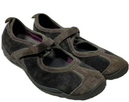 Merrell Womens Circuit Mary Jane Brown Suede Ortholite Flat Shoes Size 8.5 ( be) - $11.88