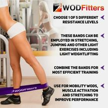WODFitters Pull Up Assistance Bands - Stretch Resistance - Mobility Band - 5 pcs image 3