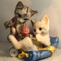 Franklin Mint Rascals Kitty Cat Figurine Kittens Yarn 1988 Vintage Gail Ferretti - $44.55