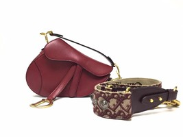 NEW AUTH Christian Dior RED Saddle Shoulder Bag WITH STRAPLESS  image 2