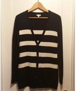 Gap Women's Striped Cardigan Sweater Nylon Wool Blend Navy, Size M, Pre-... - $20.77
