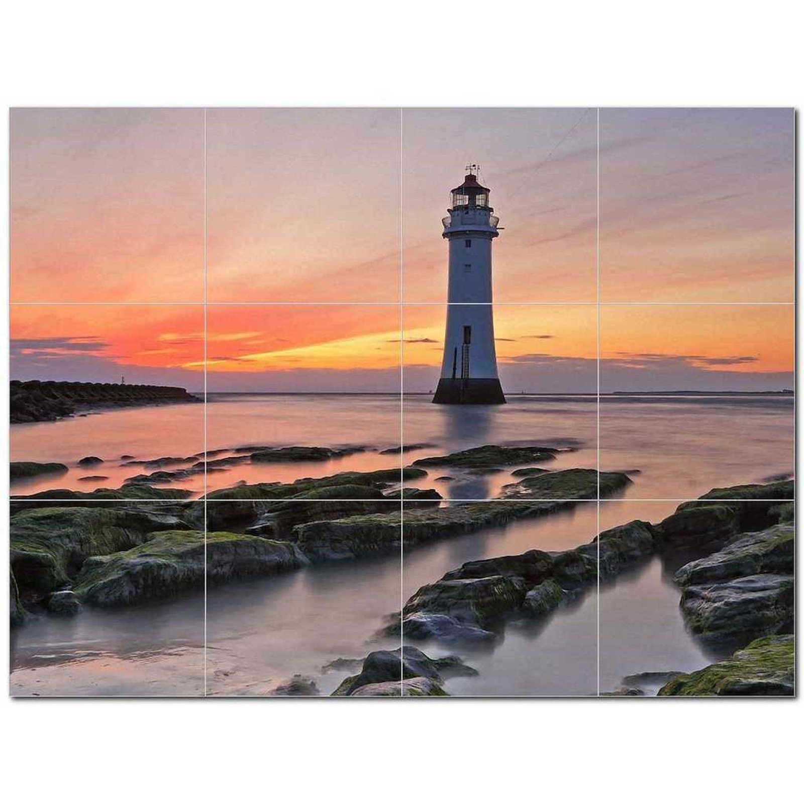 Primary image for Lighthouse Photo Ceramic Tile Mural Kitchen Backsplash Bathroom Shower BAZ405457