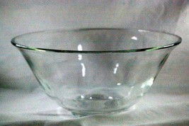 "Unknown Maker Clear Glass  10 1/2"" Wide Flared Rim Serving Bowl - $8.99"