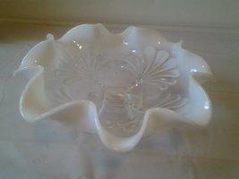 Fenton style scalloped milk edges dish - $44.04