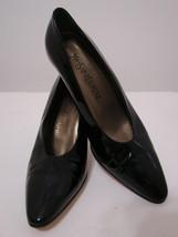 YVES ST LAURENT Pumps Vintage Black Patent Leather Point Toe 8.5 - $269.99