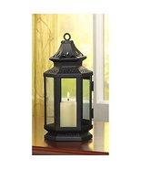 Candleholders Lanterns Black Medium Stagecoach Pillar Candle Lantern Iro... - $16.63
